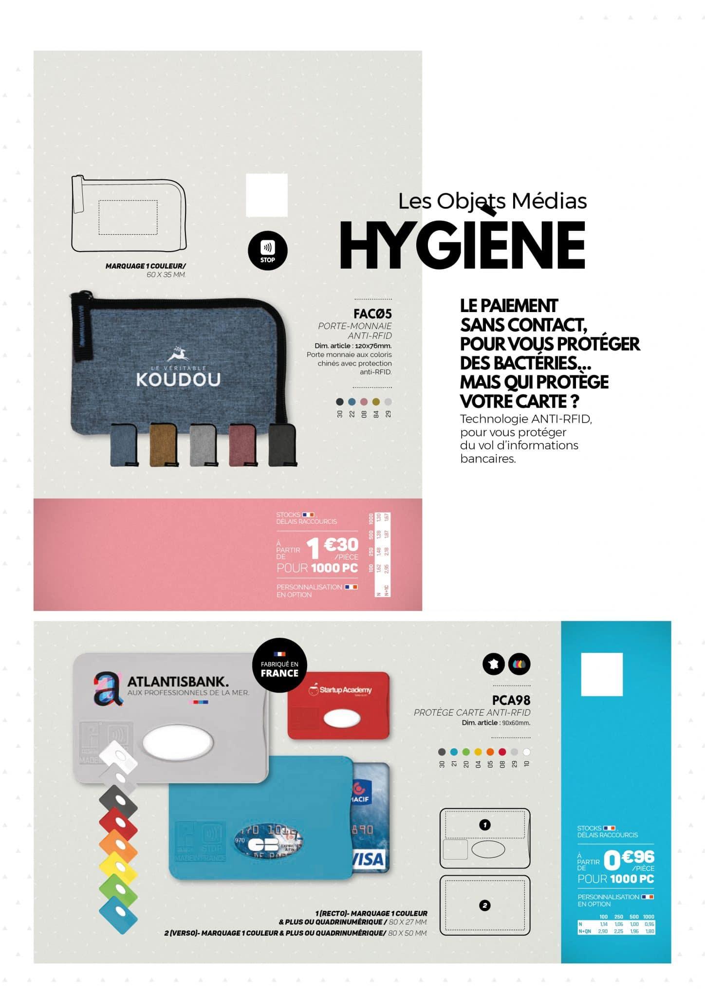 Hygiène objets personnalisables