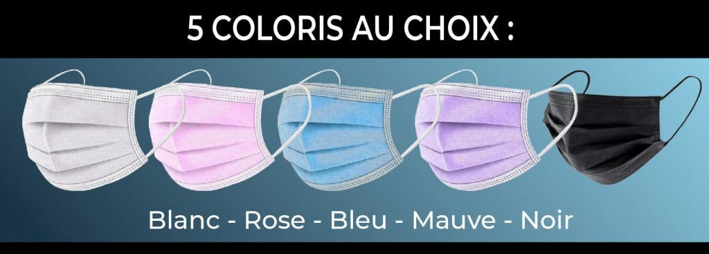 plusieurs couleurs de masque chirurgical